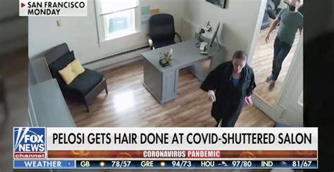 pelosi nancy salon rip maskless conservatives hypocrite hair blow speaker being san francisco getting wash trip