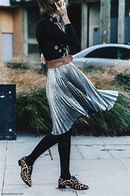 Silver Skirt Street-Style