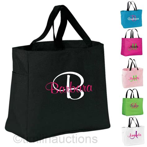 personalized monogram tote bags bridal bridesmaid