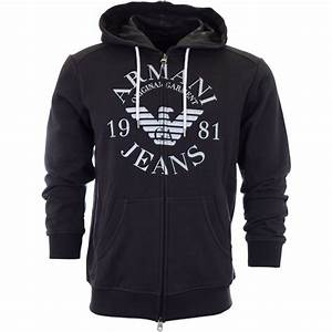 Armani Jeans 06M34 Zipped Navy Hoodie - Armani Jeans from N22 Menswear UK
