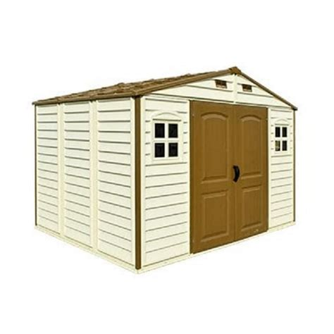 duramax woodside plastic apex shed 10x8 garden street