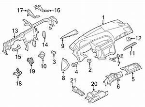2012 Audi Q5 Panel  Storage  Clamp   Lower   Instrument