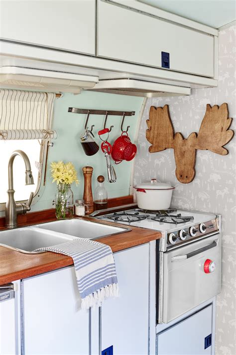 travel trailer kitchen accessories 6 cheap and easy ways to remodel a vintage trailer 6351