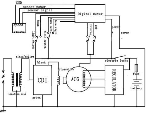 Redcat Wiring Diagram by Jt250 Atv Digital Meter Of Motorcycle Parts Buy