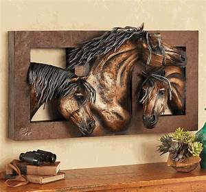 Sweet Freedom 3-D Horse Wall Sculpture