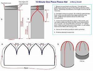 pattern to make fleece hats pattern to sew fleece hats With fleece hat template