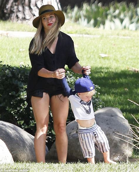 hilary duff s tottering son has the ball but she s got