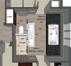 Small, Master, Bathroom, Layout, 2