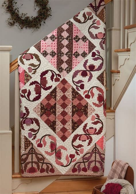 applique country 77 best pink brown quilts images on pink
