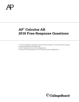 ap calculus review position velocity and acceleration