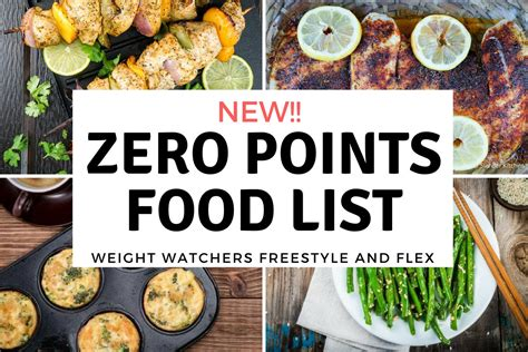 cuisine weight watchers weight watchers zero points food list freestyle plan
