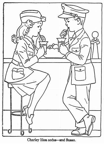 Coloring Pages Soda Embroidery Drink Patterns Soft
