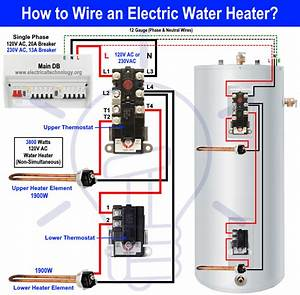 Electric Water Wiring Diagram
