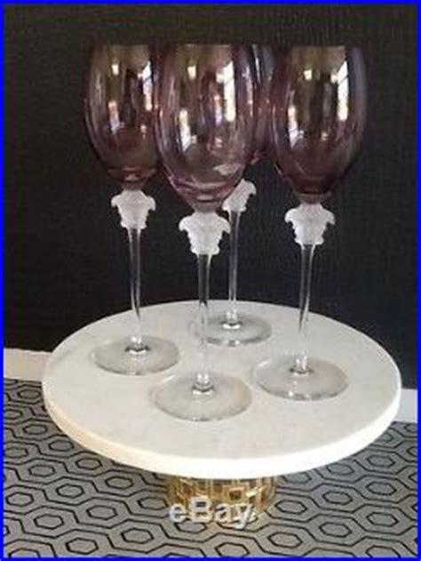 1376 versace wine glasses set of 4 versace medusa wine glasses rosenthal 10 1 4