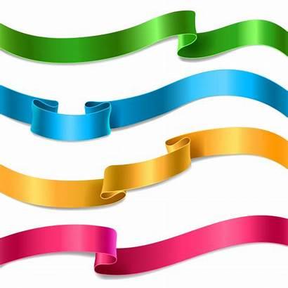 Ribbons Vector Ribbon Flowing Silk Different Satin