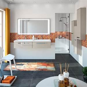 Demi Colonne Salle De Bain : meuble de salle de bain cedam gamme horizon une ligne ~ Premium-room.com Idées de Décoration