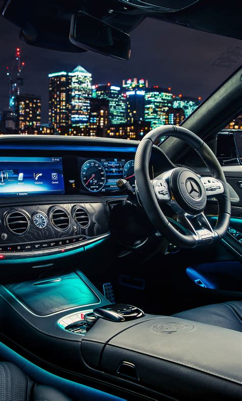 There's plenty of space for passengers, but overall cargo capacity trails class rivals. 1280x2120 Mercedes AMG S 63 4MATIC Interior iPhone 6+ HD 4k Wallpapers, Images, Backgrounds ...