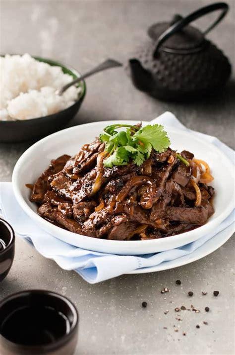 chinese beef  honey black pepper sauce recipetin eats