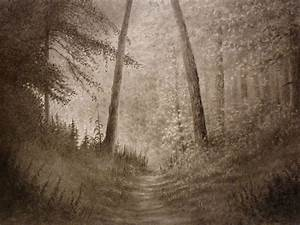 Landscape pencil drawing of a forest (timelapse) - YouTube