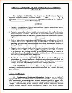 confidentiality and non compete agreement template With confidentiality and non compete agreement template