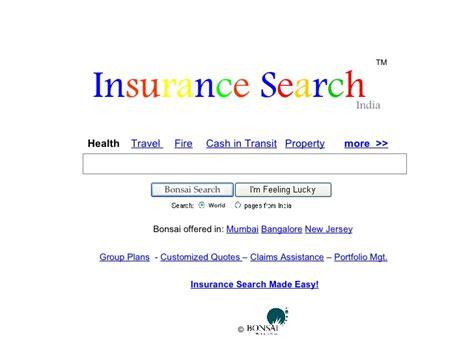 insurance search  bonsai