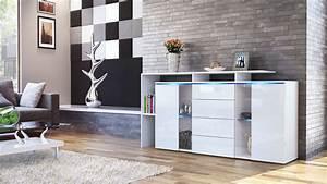 Tv Sideboard Weiß Hochglanz : sideboard tv board anrichte kommode lissabon wei in hochglanz naturt nen ebay ~ Orissabook.com Haus und Dekorationen