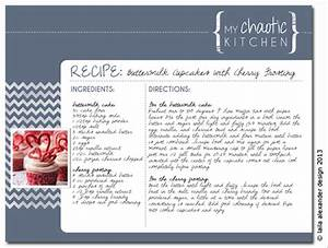 recipe card template With template for recipes in word