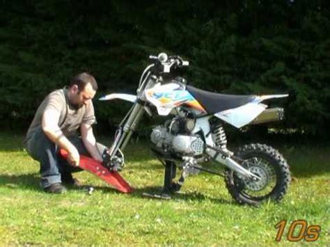 dirt bike ycf pit bike montage du kit pitboard sur une mini moto
