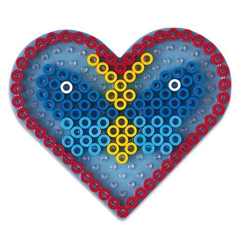 siege balancoire plaque transparente pour perles à repasser coeur hama