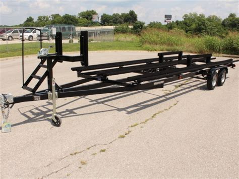 Boat Trailer Winch Auto Lock by 2017 Hustler Pontoon Trailers Tritoons For Sale In