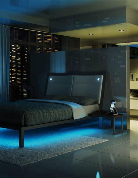 Led Leiste Bett by Amisco Furniture Bedroom Lounge Platform Bed