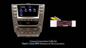 Rear View Camera Connection Cable For Toyota Lexus Mfd