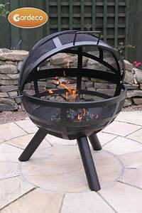 Ison Steel Ball Fire Pit Dia60cm By Gardeco 14999
