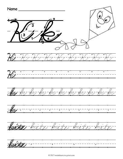 printable cursive  worksheet  images cursive