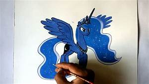 How To Draw My Little Pony Princess Luna Alicorn Pony