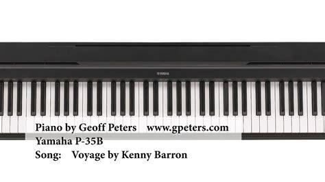 yamaha p 35b yamaha p 35 jazz piano demo by geoff peters yamaha p 35b