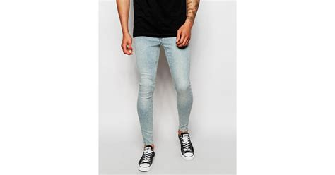 cheap light blue skinny jeans cheap monday jeans low spray extreme super skinny fit