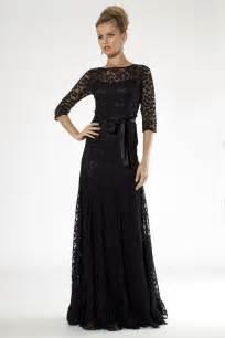 teri jon black lace floor length evening gown teri jon