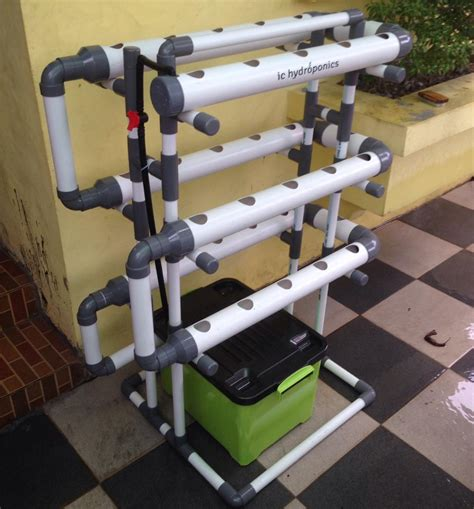 Jual Kit Hidroponik Surabaya jual kit hidroponik pipa pvc 30 lubang fullset harga murah