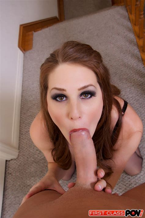 Sexy Allison Moore Goes Upstairs To Suck A Lucky Cock 1 Of 1
