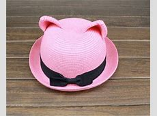 Cute Kitten Cat Ear Straw Hat · Mad Bargains · Online