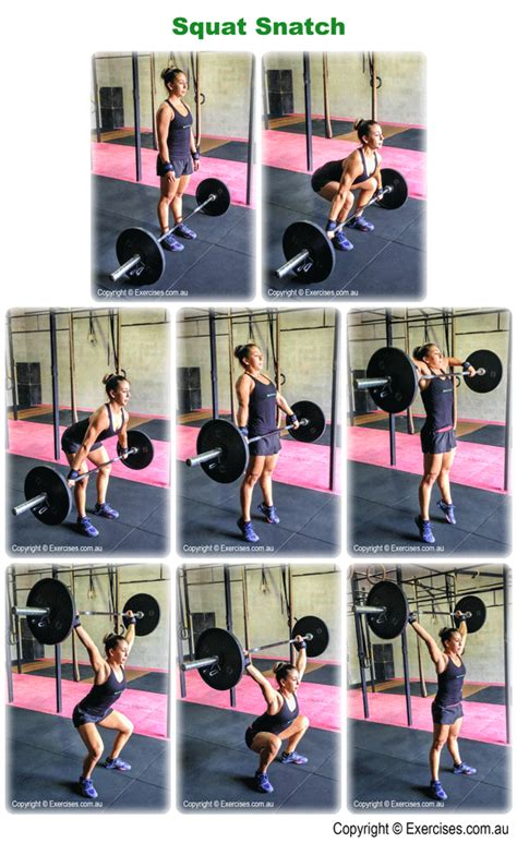 snatch hang squat power exercises variations