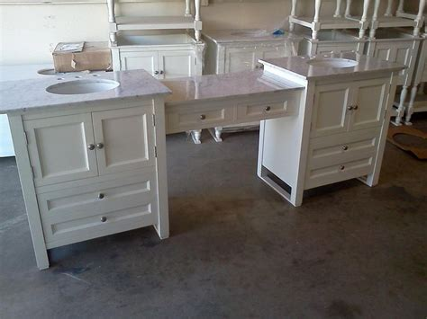 custom bathroom vanities  makeup area woodworking