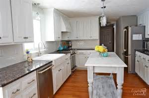 white kitchen island remodelaholic white kitchen overhaul with diy marble island