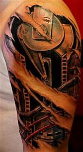 Shoulder Biomechanical Tattoo by Upstream Tattoo