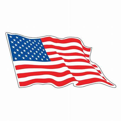 Flag American Race Decals 3inch 48inch Sizes