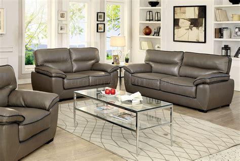room and board lenox sofa lennox sofa cm6126 in gray leatherette w options