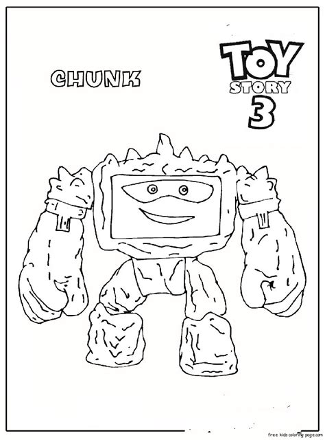 chunk toy story   printable coloring pages  kidsfree printable coloring pages  kids