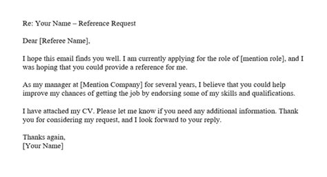 Asking For A Reference Letter by How To Ask For A Reference Tips And Email Template