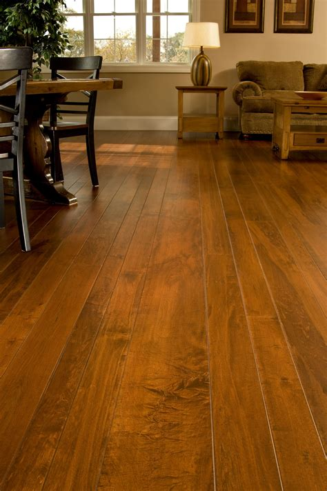 Brown Living Room Floor Ls by Brown Maple Hardwood Flooring In A Living Room